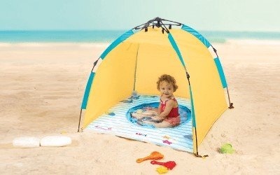 Tendas e piscinas de praia para bebés