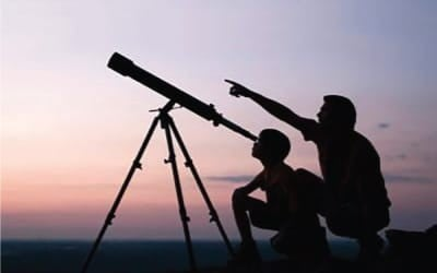 Telescopios, microscopios y binoculares para crianças